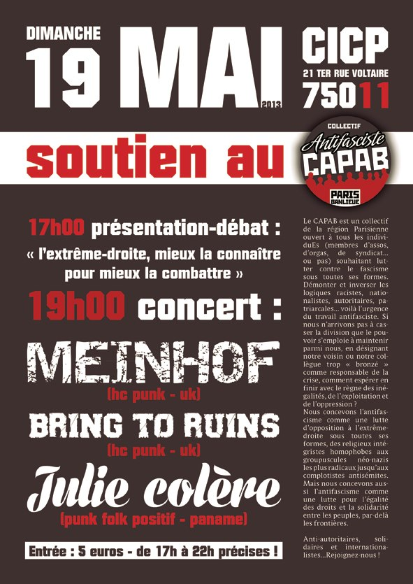 Capab Concert de soutien 10.05.13